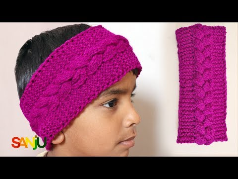 How to knit a cable knitting pattern headband