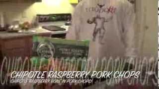 Chipotle Raspberry Pork Chops