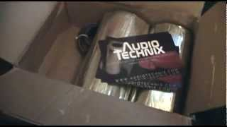 "New Audio Technix sound deadener and 8 Ga. wire for subs - Dual Obsidian 18"" build vid 6.5"