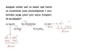 TYT Kimya Full Çeken Soru Bankası - Bölüm 9 - Mavi Sorular - Test 1 - Soru 2
