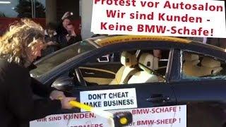 Protest vor Autosalon Genf 2014 - BMW M6 wird demoliert