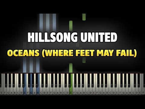 Hillsong United - Oceans (Where Feet May Fail) Piano Tutorial (Sheet Music + midi)