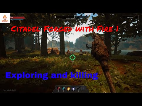 Citadel Forged with Fire gameplay | Ep 1 | official server | Explore the map