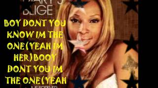 mary j. blige ft drake the one lyrics/pics