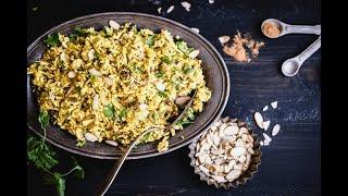 Curried Cauliflower Rice Recipe - Stupid Easy Paleo
