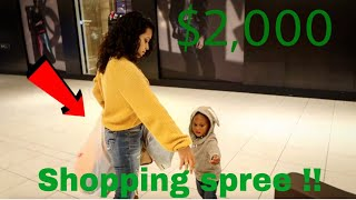 TAKING BABY AYDEN ON A $2000 SHOPPING SPREE!!