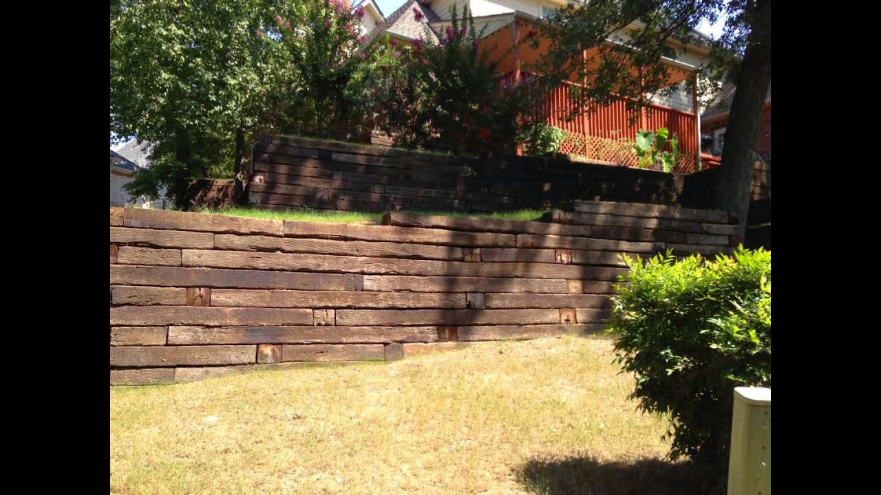 Building A Retaining Wall On Slope With Railroad Ties