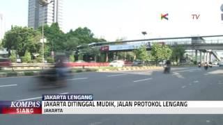 Ditinggal Mudik, Jakarta Lengang