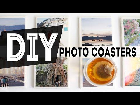 DIY Home Decor Photo Coasters   Gift Idea   ANN LE
