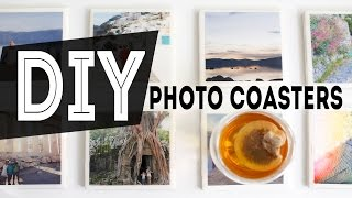 DIY Home Decor Photo Coasters | Gift Idea | ANN LE