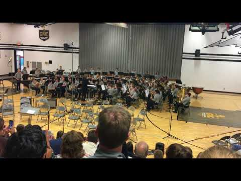 Liberty Junior School - 7th Grade Band - Lakota Scools - Ghost Busters performance, October 2017