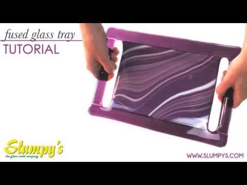 Fused Glass Tray with Handles