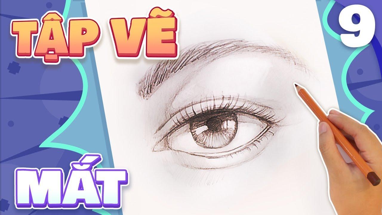Tập Vẽ Mắt | How to Draw An Eye | Họa Sĩ Tí Hon