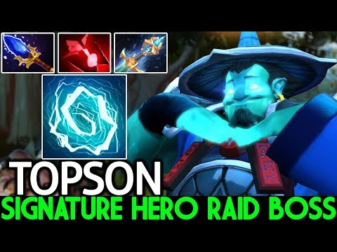 TOPSON [Storm Spirit] Imba Signature Hero Raid Boss Beautiful Scepter 7.22 Dota 2