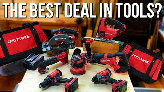 Craftsman v20 8 Tool Combo Kit - Unboxing and Initial Review