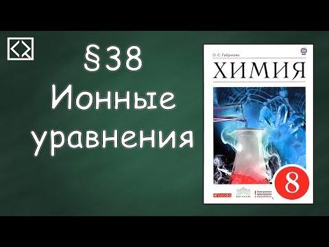 Химия ионные уравнения видеоурок