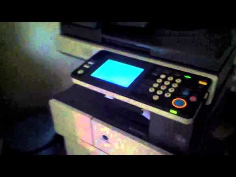 How to factory reset a Konica Minolta bizhub 350 | FunnyCat TV