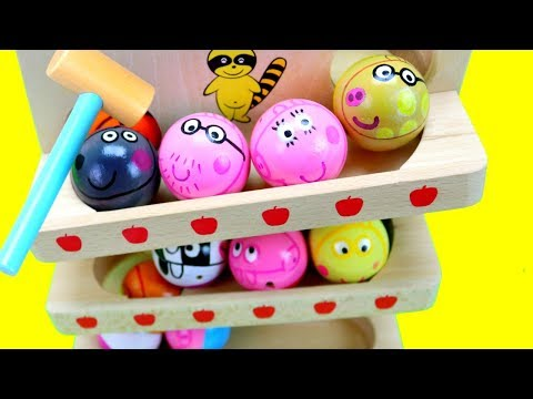 Thumbnail: Peppa Pig Wooden Toy Balls! Baby Toy Preschool Numbers Count Colours for Kids ASMR