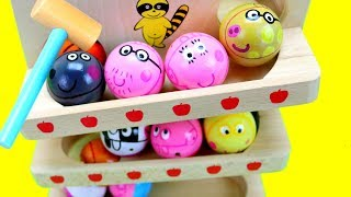 Baby Learn Colors Peppa Pig Wooden Toy Balls! Baby Toy Preschool Numbers Count Colours for Kids ASMR