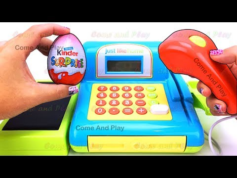 Thumbnail: Just Like Home Cash Register Playset Surprise Toys Learn Colors Squishy Slime Tayo Little Bus Kids