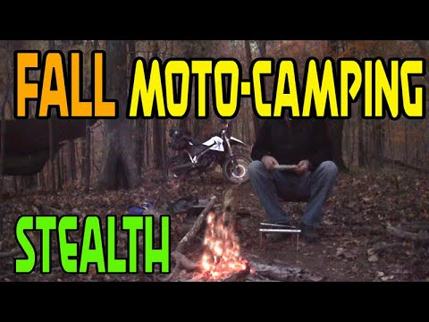 Hammock Stealth Camping from a Motorcycle | Motorcycle Camping Adventures