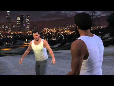 "Grand Theft Auto V - Deadman Walking: Michael & Franklin Oil Fields ""Play Both Sides"" Cutscene PS3"