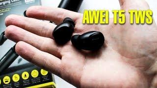современные беспроводные наушники / Обзор Awei T5 TWS