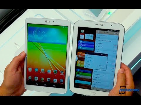 LG G Pad 8.3 vs Galaxy Note 8.0 (IFA 2013 Hands-On)