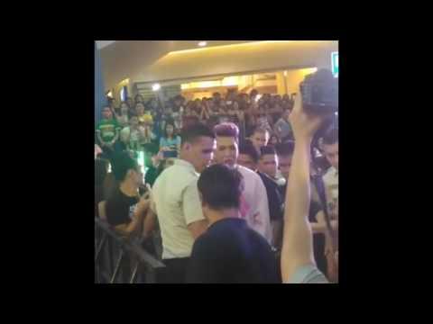 Vice Ganda and Awra at #StarCinemaPaskongPasasalamat event at the SM Mall Of Asia Music Hall
