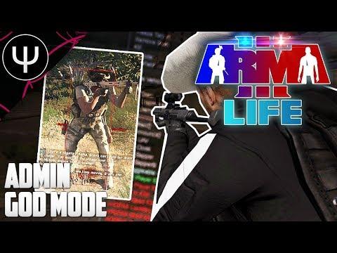 ARMA 3: Life Mod — Admin GOD Mode Cheating!