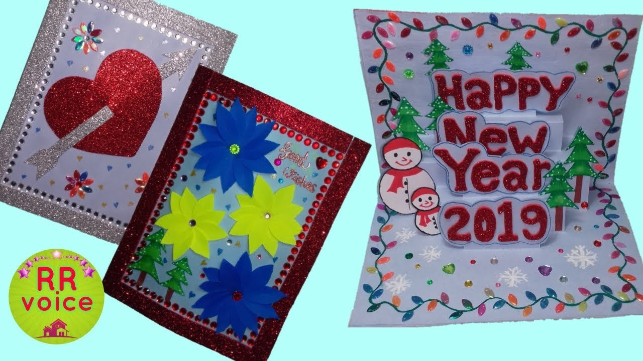 New year greeting card 3, pop up christmas card