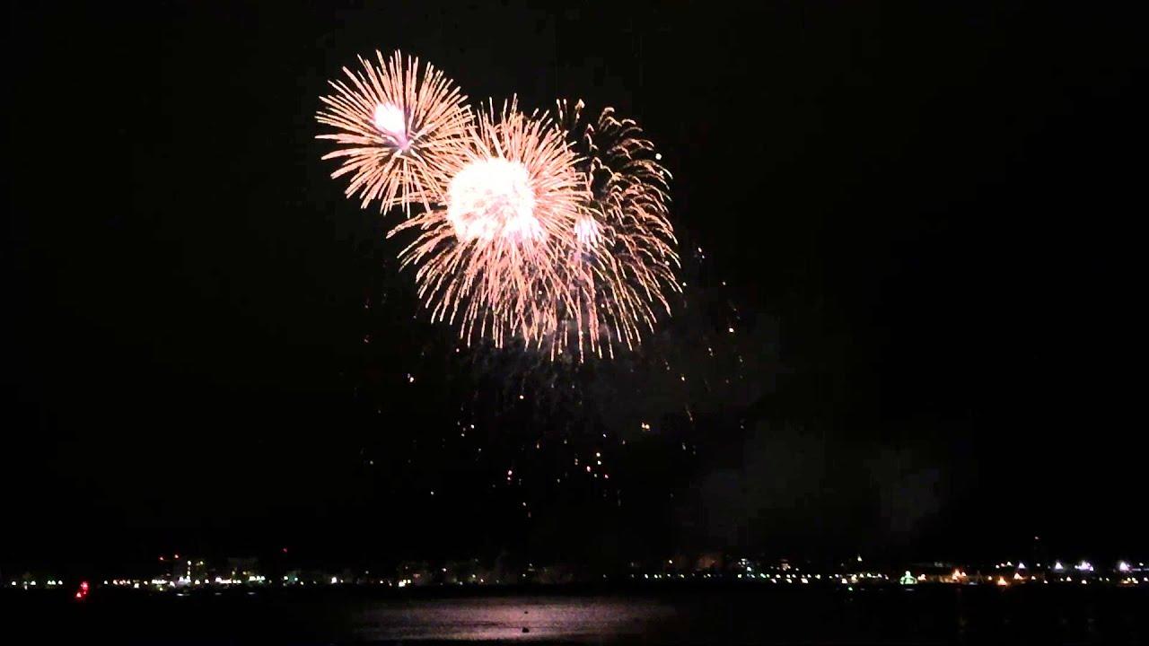 Boston Harbor 2016 NEW YEAR Fireworks - YouTube
