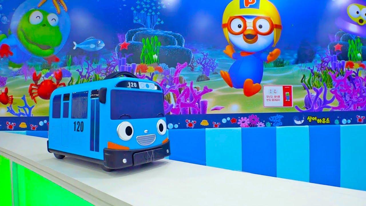 타요 버스가 플레이즈 키즈 카페에서 예준이랑 신나게 놀아요! 뽀로로 어린이 자동차 장난감 놀이 Wheel on the Tayo Bus Nursery Rhymes for Kids