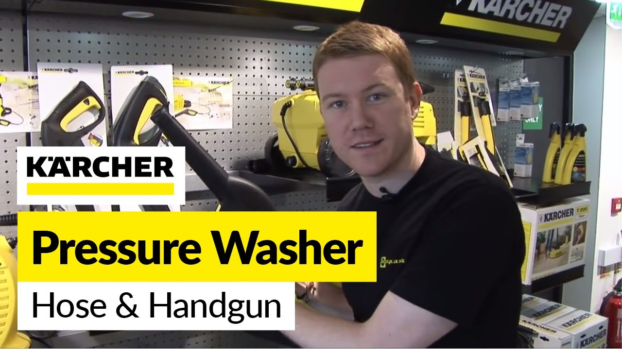how to replace a karcher hose and handgun on a karcher pressure washer youtube [ 1280 x 720 Pixel ]