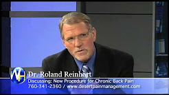Chronic Back Pain Relief, Roland Reinhart M.D., Palm Springs Pain Management Specialist