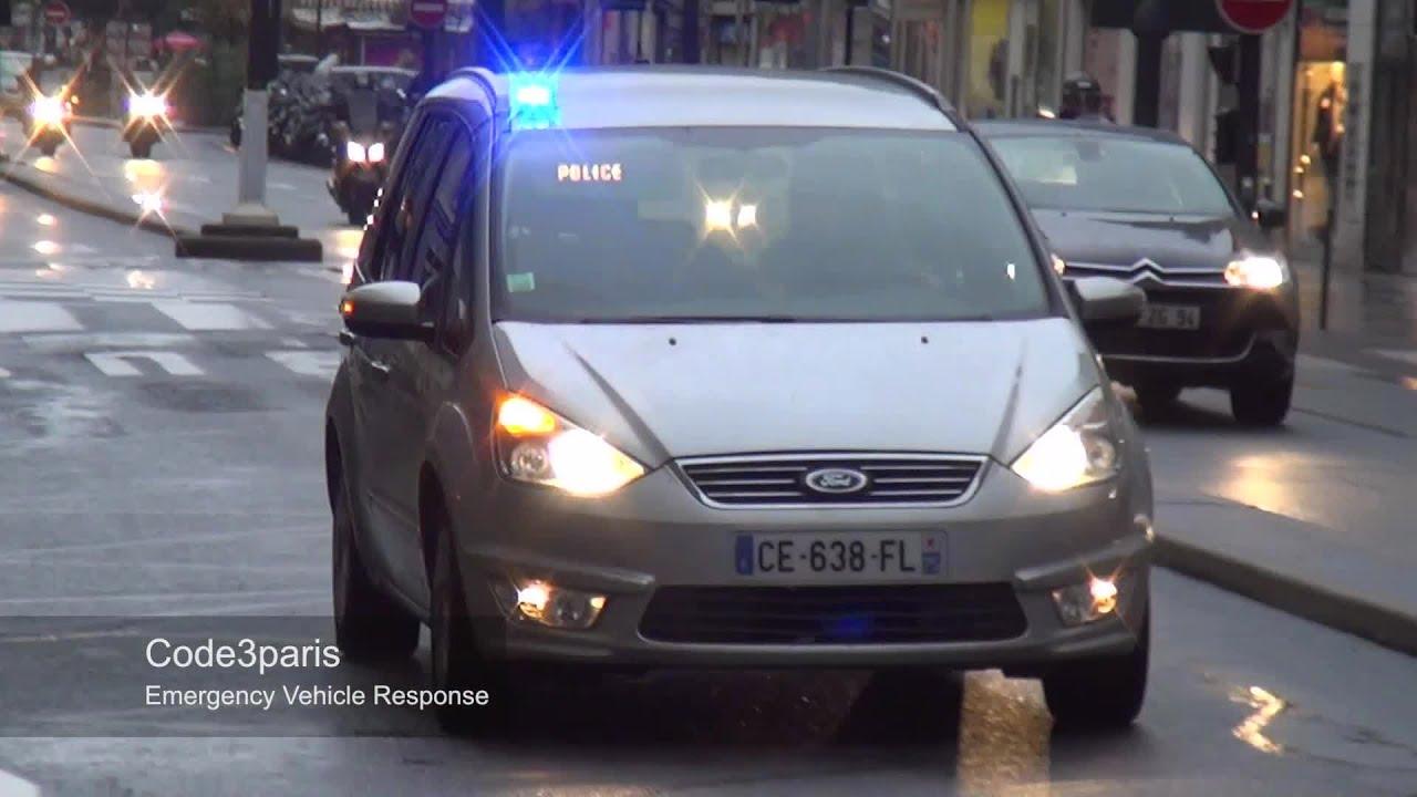 voiture de police banalis e unmarked paris police car responding youtube. Black Bedroom Furniture Sets. Home Design Ideas