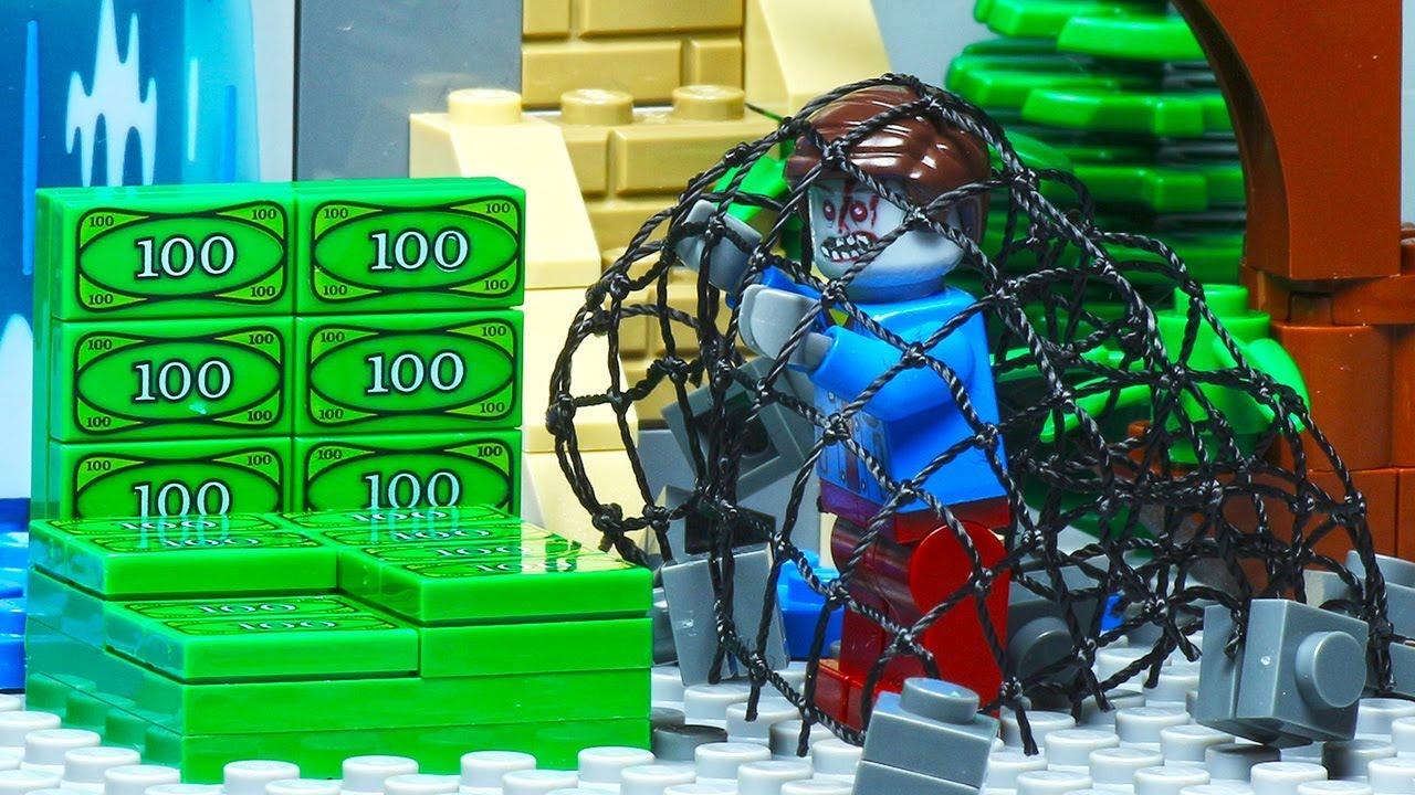 Lego City Zombie Attack Money Robbery Fail - YouTube
