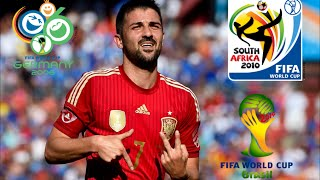 Video David Villa ● All 9 Goals in World Cup ● 2006-14 IHDI download MP3, 3GP, MP4, WEBM, AVI, FLV Juli 2018