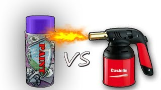 Experiment GAS TORCH VS PAINT SPRAY CAN 10000⚡️ degree😱