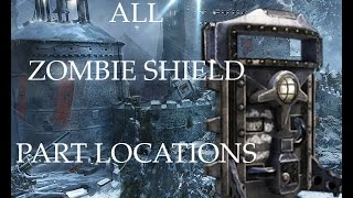 All Der Eisendrache Zombie Shield Part Locations