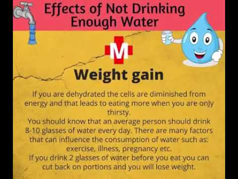 Dangers of not drinking enough water