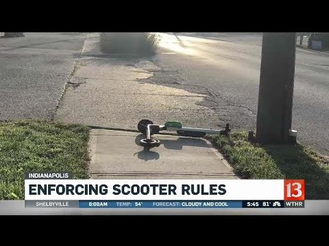 Enforcing the scooter rules