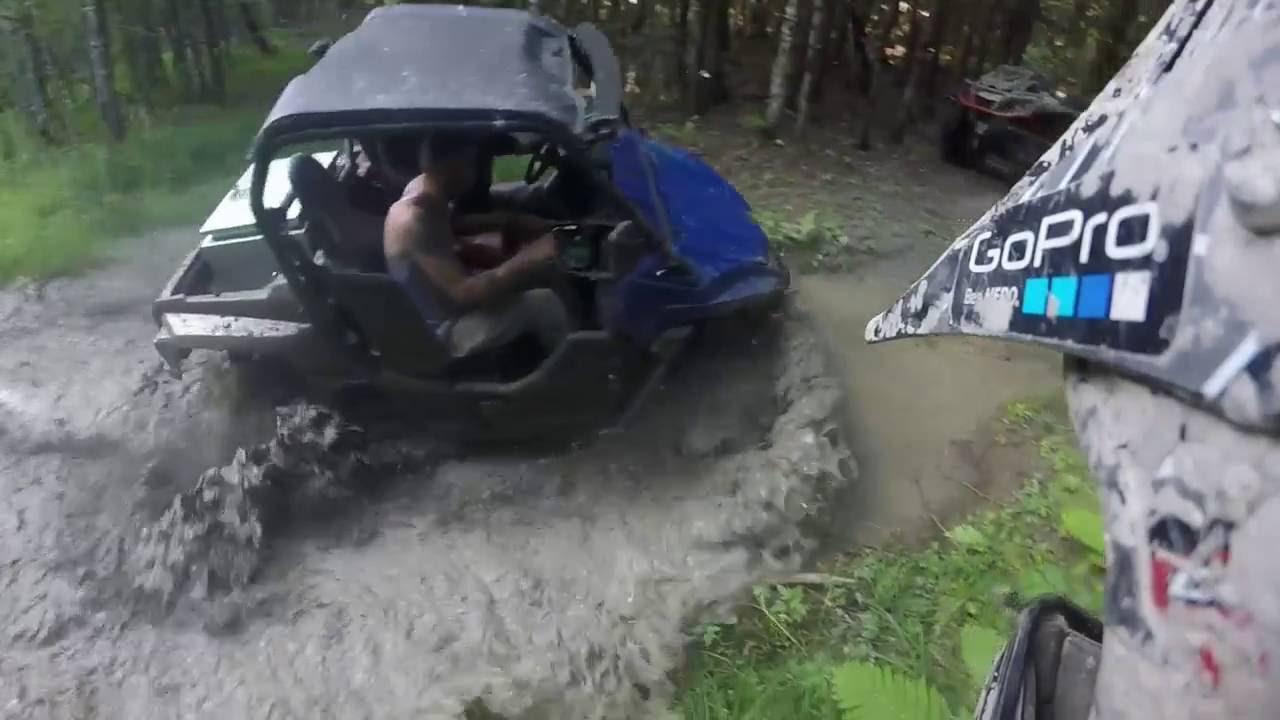 Yamaha Wolverine  Mudding