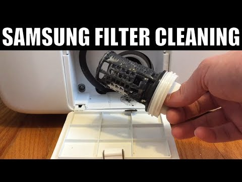 How to Clean Washing Machine Filter Samsung