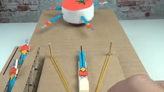 How to Make Knife Hit Game from Cardboard at Home - Knife Hit in Real Life!!!