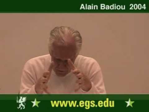 Alain Badiou. Political Perversion and Democracy. 2004 3/12