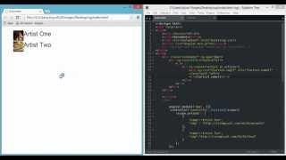 angular js artists and images ng src ng repeat 720p