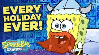 Happy Leif Erikson Day! 🎉 Top 10 Funniest Holidays in Bikini Bottom! | SpongeBob