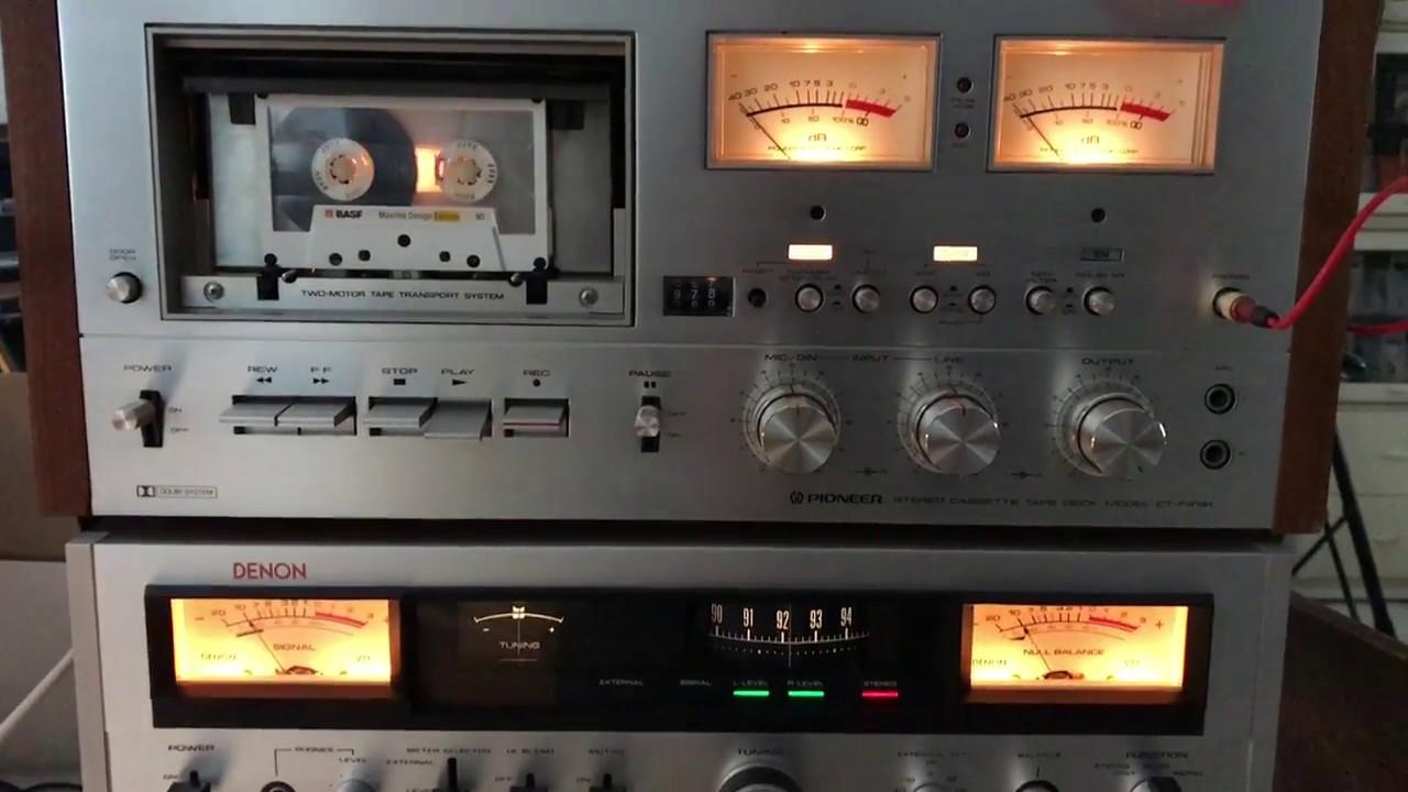 Pioneer CT-F9191 Cassette Deck & Denon TU-500 Stereo FM Tuner