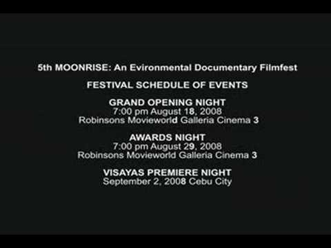 Moonrise Filmfest 2008 Schedule of Events